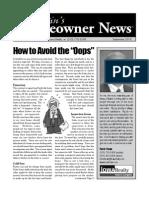 Kevin Howe Newsletter Sept 2010