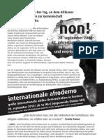 Afrika-Demonstration gegen den französischen Neokolonialismus