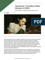 newsela wwii women