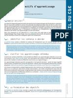 UNIL-CSE Objectifs Pedagogiques