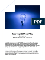 2018 IP Day Coalition Letter