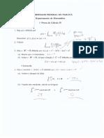 1ª Prova de Cálculo IV