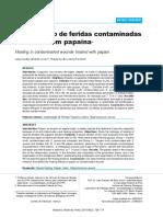 AO6 Cicatrizacao de Feridas Contaminadas Tratadas Com Papaina