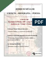 Convite Evento Friedrich Muller