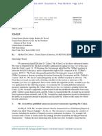 Michael Cohen v. USA - Cohen Letter to Court Re Michael Avenatti May 9 2018