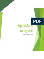 Metodologii Manageriale - Curs 02 - Reproiectarea Manageriala