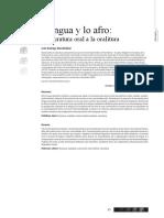 Oralitura La Lengua y Lo Afro
