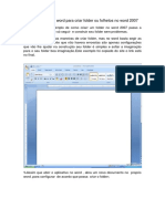 Criando Folder No Word 2007