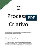 O Processo Criativo