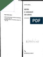 (Le sens commun) Alexandre Matheron-Individu et communaute chez Spinoza-Les Editions de Minuit (1988).pdf