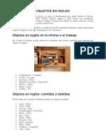 Objetos en Inglés