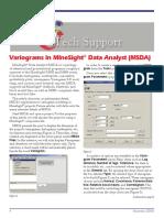Variograms in MineSigh Data Analyst (MSDA)