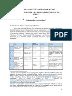 ¿Asamblea Constituyente o Congreso? Quién debe resolver la crisis constitucional en Chile