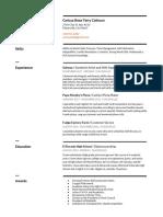 resume for senior port