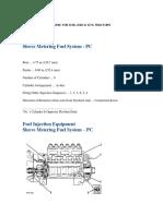 Datos de Motor Cat 3306