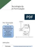 Aula 3 e 4 Tecnologia Da Pré-Formulação Final 2018
