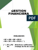 Gestión Financiera Semestre 2018-1