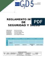 Reglamento Interno de Seguridad y Salud