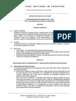 Instructivo de Formulación de PPTO 2018-2020