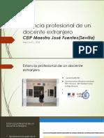 Estancia Profesional de un docente extranjero.