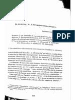 El Derecho a La Información en México Mariana Cendejas Jáuregui