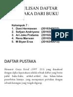 Penulisan Daftar Pustaka Dari Buku (Bi)
