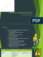Review and Activities