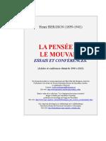 Bergson, La pensée et le mouvant (M).doc