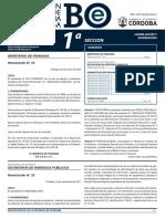 Boletín Oficial Tasas de Cuerpo Receptor y de Perforaciones