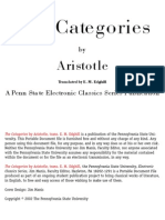 """""""The Categories"""" by Aristotle"""