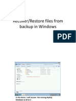 UC4 - Recover Files From Backup