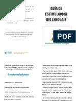 Diptico Est. Lenguaje