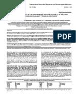 Antifungal Activity of Chloroform and Acetone Extracts of Solanum Dolichosepalum Againts Fusarium Oxysiorum