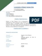 Curriculum Vitae_Alexander Pérez