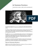 Los 8 Tipos de Trastornos Psicóticos