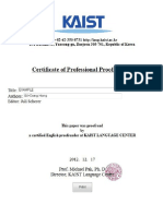 Certificate of Editing Templates