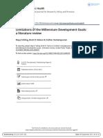 Limitations of the Millennium Development Goals a Literature Review