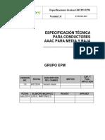 ET Cables AAAC - Grupo EPM Mayo 26 de 2015