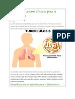 8 Remedios Caseros Eficaces Para La Tuberculosis
