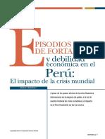 REVISTA MONEDA EPISODIOS DE FORTALEZA Y DEBILIDAD ECONÓMICA EN PERU, EL IMPACTO DE LA CRISIS MUNDIAL