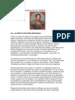 EZCURRA MEDRANO, Alberto. Sobre Rosas en Los Altares