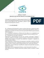Edital Pos Doutorado Capes