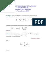 Solucion Segunda Pep Ecuaciones Diferenciales