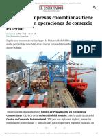 Colombia Analisis El Espectador Exportaciones