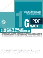 APA Guidelines and Principles for Accreditation of Programs in Professional Psychology