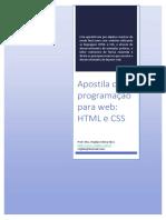 Apostila Programacao WEB HTML CSS