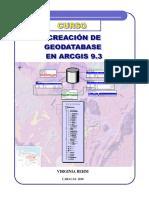 Creacion Geodatabase Arcgis 93