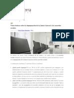 Notas Básicas Sobre La Impugnación de La Junta General y Los Acuerdos Sociales
