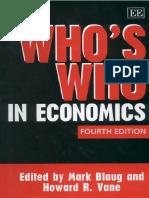 [Mark Blaug, Howard R. Vane] Who's Who in Economic(B-ok.org)