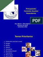 Presentación para presupuesto. Comisión de Asuntos Hacendarios